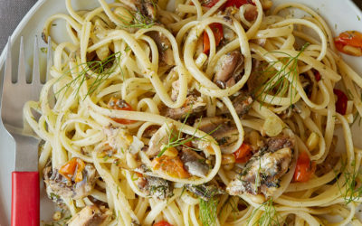 Linguine with Sardines, Fennel, Tomato & Pine Nuts Recipe