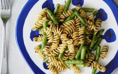 Penne Genovese with Green Beans & Basil Pesto Recipe