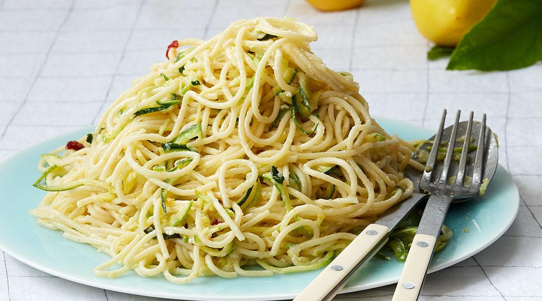 Spaghetti Zucchini Ricotta Lemon Zest Recipe