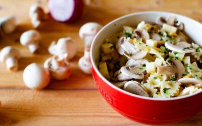 Farfalle and Mushroom Salad Recipe